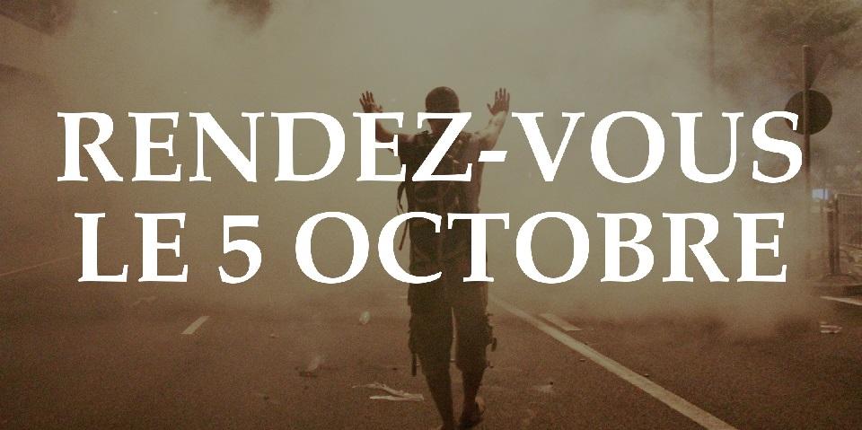 Rendez-vous le 5 octobre