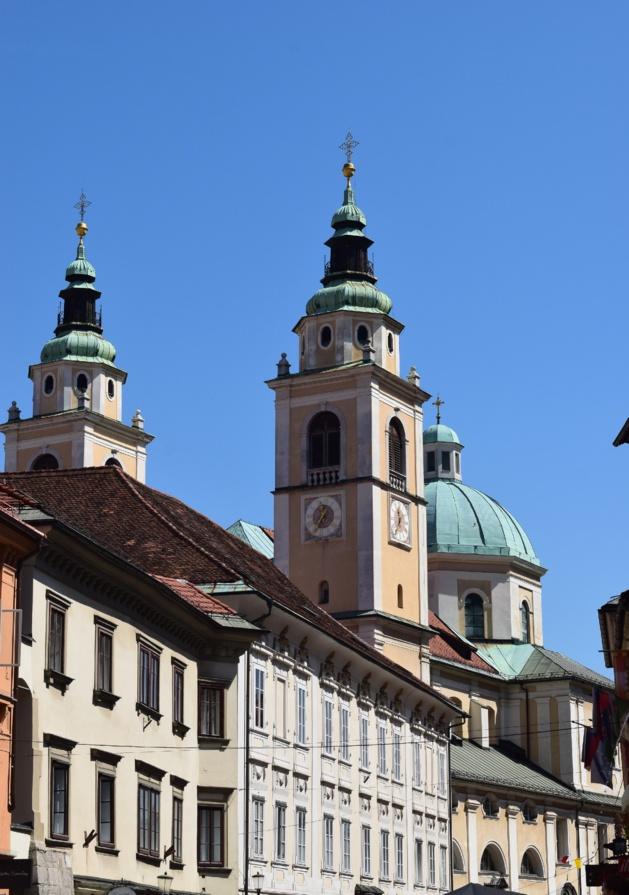 La cathédrale Saint Nicolas de Ljubljana. Crédit Lucie Benk.