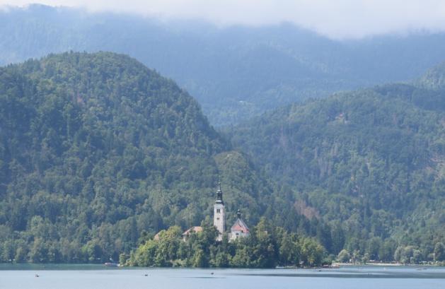 Le lac de Bled. Crédit Marie Crozier.