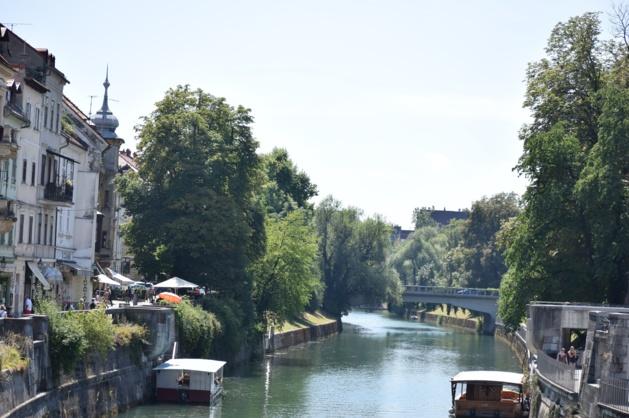 La rivière Ljubljanika. Crédit Marie Crozier.