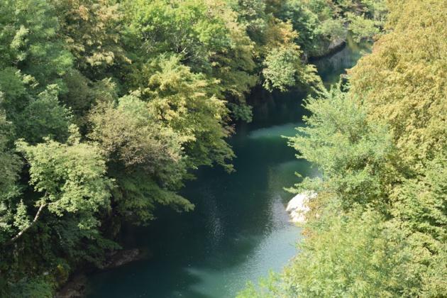 La rivière Soča. Crédit Marie Crozier.