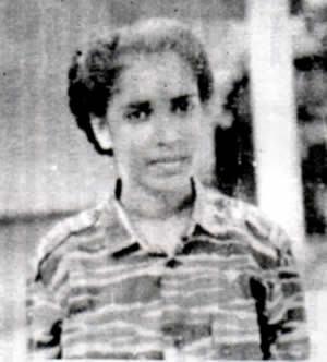 Gena, une des cadres tamoules du LTTE, morte dans une attaque suicide.