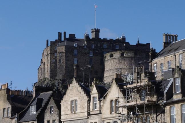 Le château d'Edimbourg, un des symboles de l'indépendance écossaise