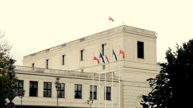La Diète, chambre basse du Parlement polonais, à Varsovie