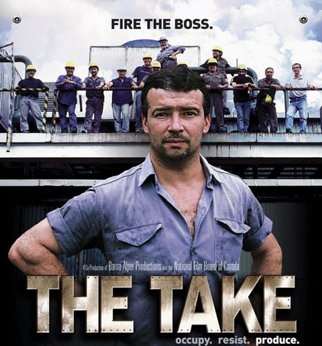 Produit par Any Lewis et Naomi Klein, The Take (2005) retrace l'histoire des ouvriers de l'usine Forja San Martin