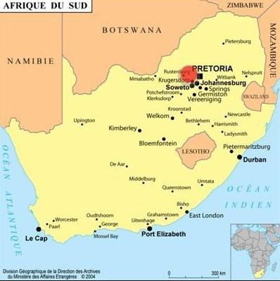 Marikana se situe dans le bassin minier de Johannesburg, près de Rustenburg à une centaine de km de la capitale