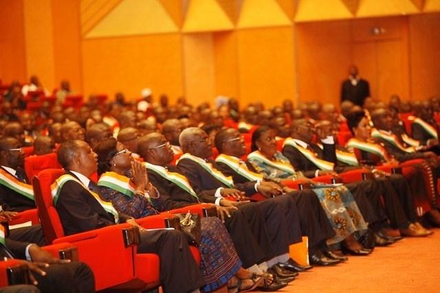 le Président Alassane Ouattara a assisté à la cérémonie d'ouverture de la 1ère Session ordinaire de la nouvelle Assemblée Nationale