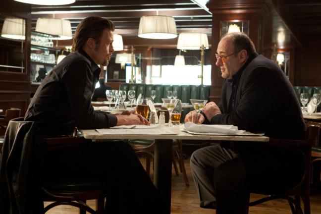 Brad Pitt et James Gandolfini