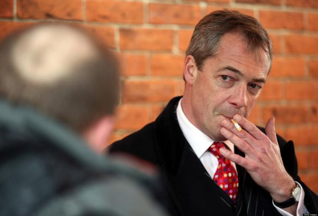 Nigel Farage, co-président Europe libertés démocratie, groupe politique au Parlement européen regroupant la Ligue du Nord et l'UKIP