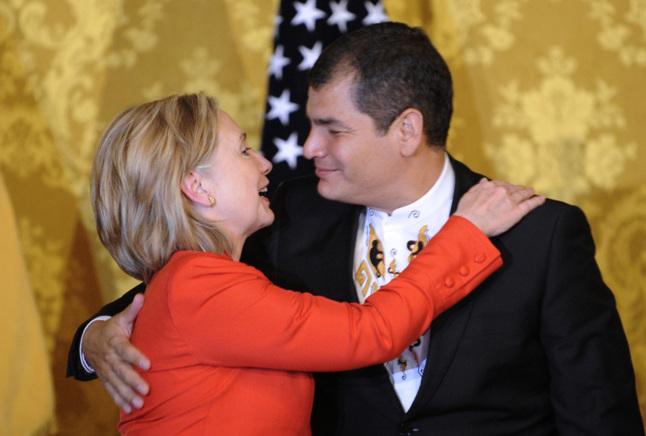 Hillary Clinton et Rafael Correa