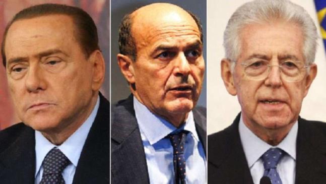 Silvio Berlusconi, Pier Luigi Bersani et Mario Monti s'affronteront les 24 et 25 février dans les bureaux de vote italiens