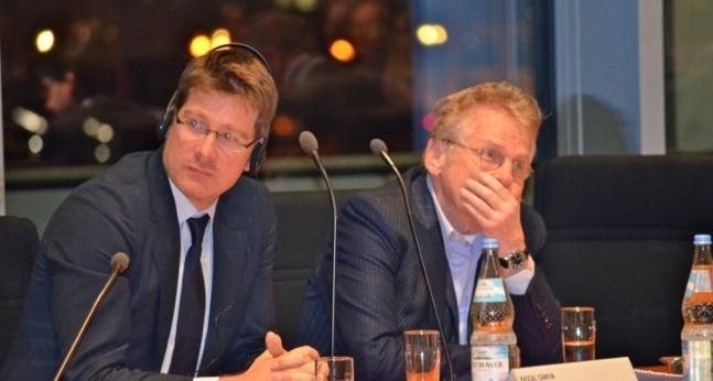 Pascal Canfin et Daniel Cohn-Bendit au Bundestag © L. Perrusel-Morin