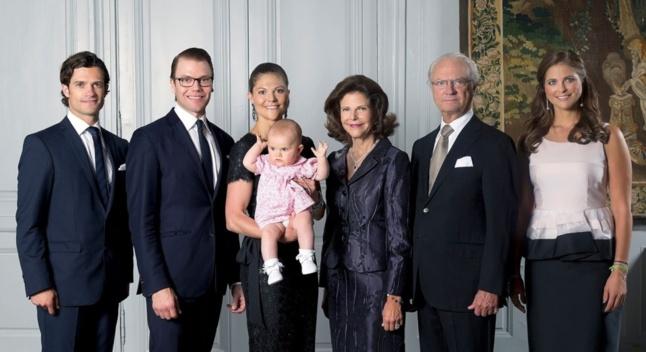 La famille royale de Suède, descendante de Jean-Baptiste Bernadotte, maréchal d'Empire né en France