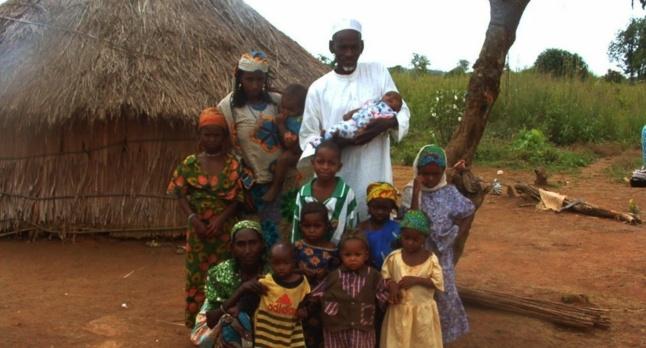 Une famille de réfugiés Mbororo non loin de Garoua Boulai