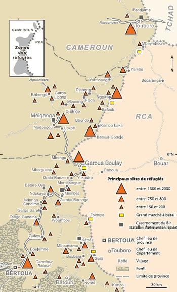Situation des réfugiés Mbororo de RCA au Cameroun en 2008