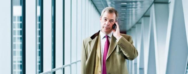 Nigel Farage fait de la sortie de l'UE le fer de lance de son programme politique.