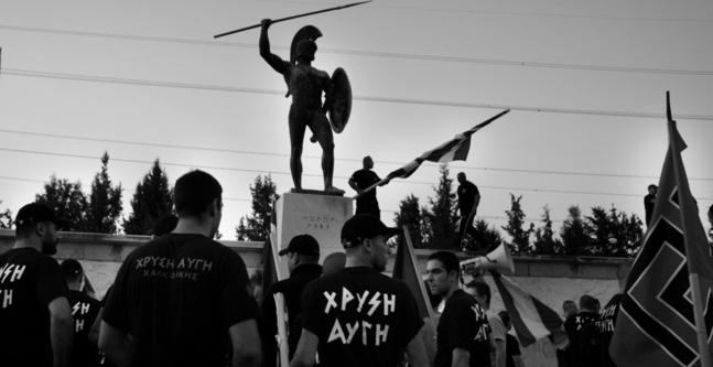 Manifestation du parti d'extrême droite Aube Dorée