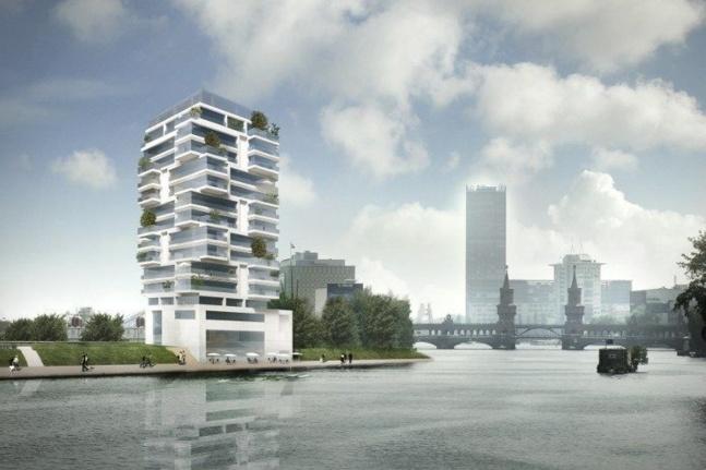 Arichtectes Living Bauhaus nps tchoban voss. - Projet immobilier dans le quartier de Friedrichshain - @AFP