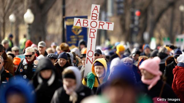 An anti-abortion demonstrator in Washington, D.C. Chip Somodevilla/Getty Image