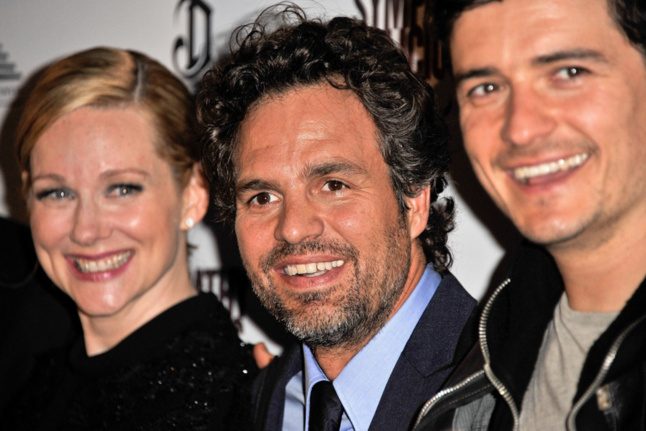 Linda Linney, Mark Ruffalo et Orlando Bloom, acteurs dans Sympathy for Delicious