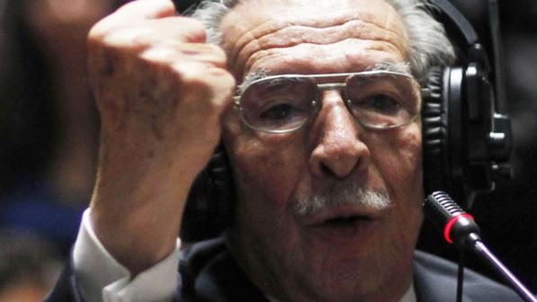 Efraín Ríos Montt durant son procès