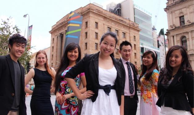 Étudiants asiatiques à Brisbane