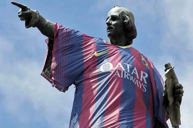 Christophe Colomb, avant-centre du Barça