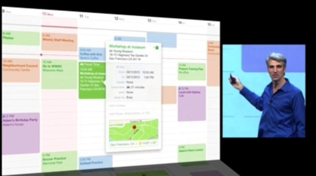 Le nouveau calendrier d'OS X