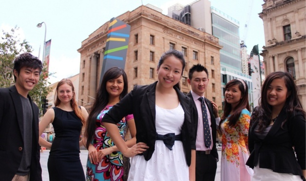 Asian students in Brisbane