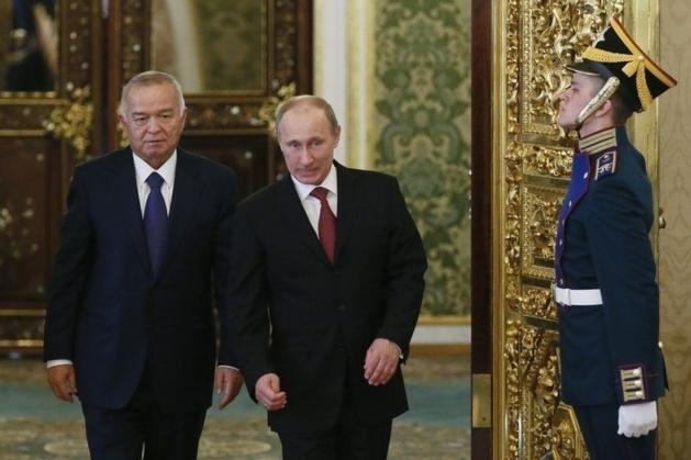 President Karimov with Russian president Putin