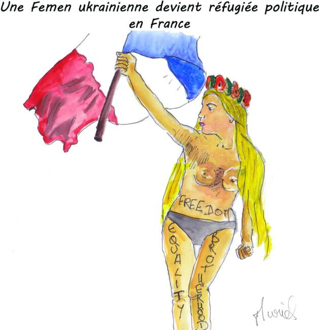 Une Femen ukrainienne devient réfugiée politique en France