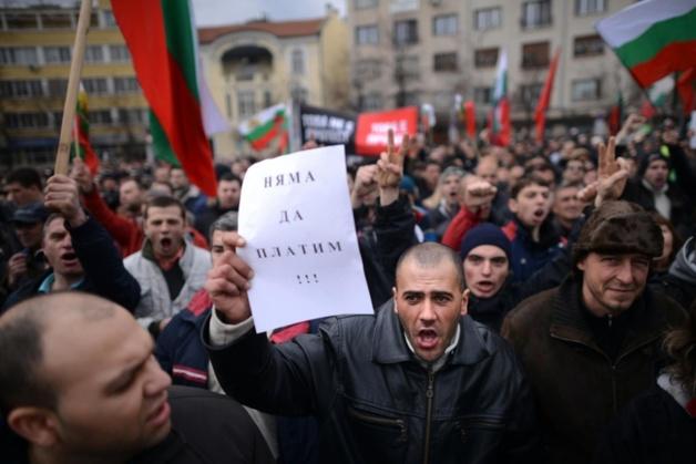 « Nous ne paierons pas »   Crédit photo -- Dimitar Dilkoff / AFP