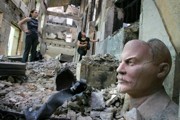 Tskhinvali en ruines, 2008 | Crédit Photo -- AFP