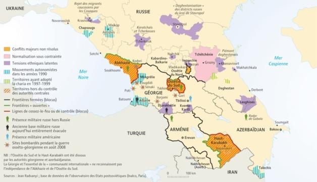 Caucase, The Big Picture | Crédit Carte – Jean Radvanyi / Inalco Paris