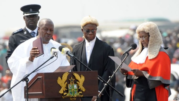 Cérémonie d'investiture de John Dramani Mahama, le 7 janvier 2013 | Crédits photos -- AFP