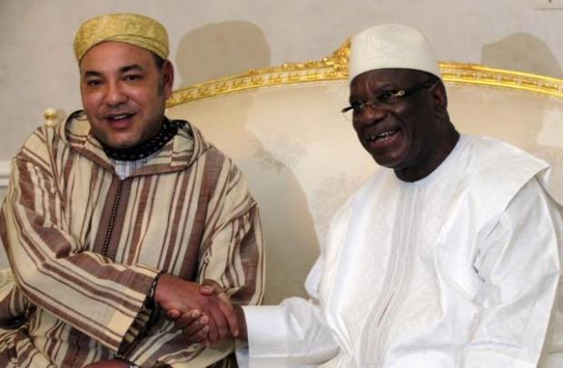 Rencontre entre Mohamed VI et le président malien Ibrahim Boubacar Keïta | Crédits Photo -- REUTERS/Thierry Gouegnon