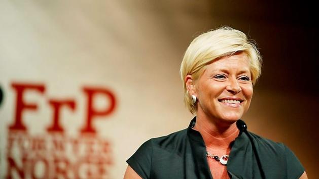 Siv Jensen, leader du FrP | Crédits photo -- Sara Johannessen/Scanpix