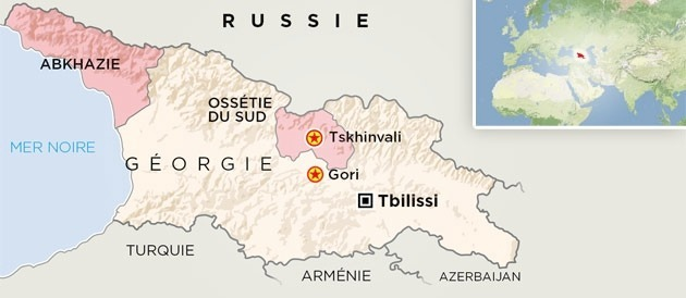 Is South Ossetia Depending On The Kremlin - South ossetia map