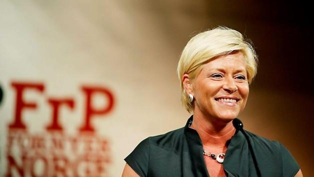 Siv Jensen, leader du FrP | Crédits -- Sara Johannessen/Scanpix