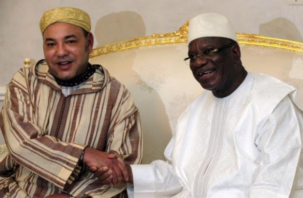 Meeting between Mohammed VI and Mali's president Ibrahim Boubacar Keita. Credits -- Thierry Gouegnon/REUTERS