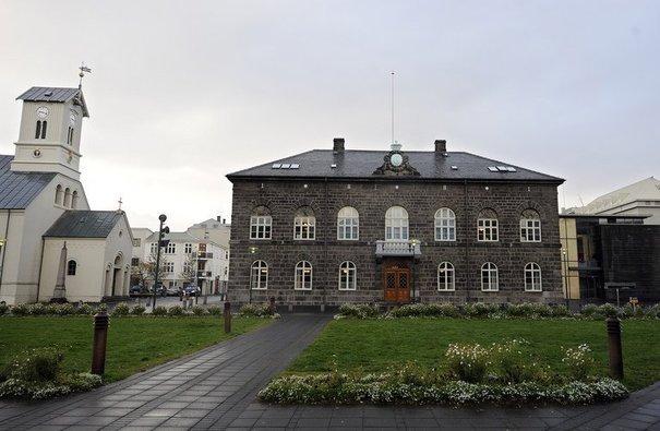 Parlement islandais à Reykjavík | Crédits photo -- Olivier Morin/AFP