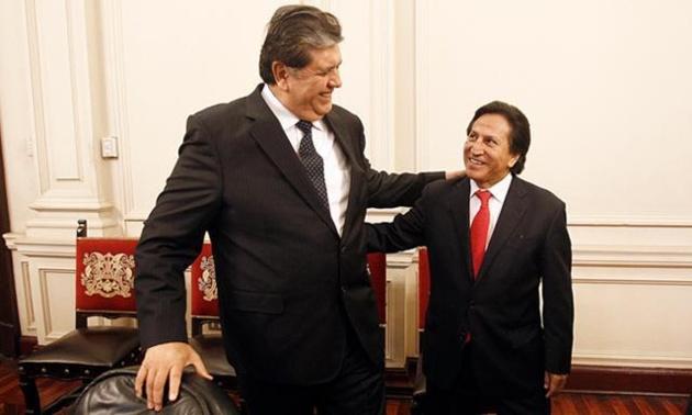 Alejandro Toledo et Alan García   Crédits Photo -- Presidencia Perú