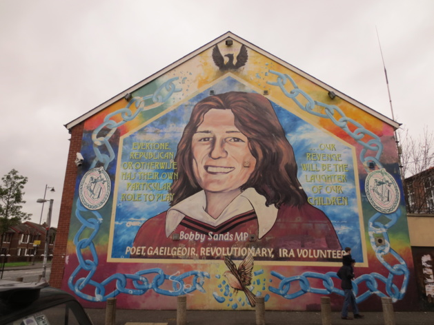 Peinture murale représentant Bobby Sands | Crédits photo : Lauren Konopacz/Le Journal International