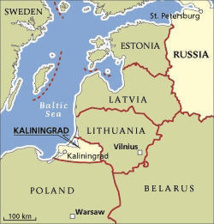 carte europe kaliningrad