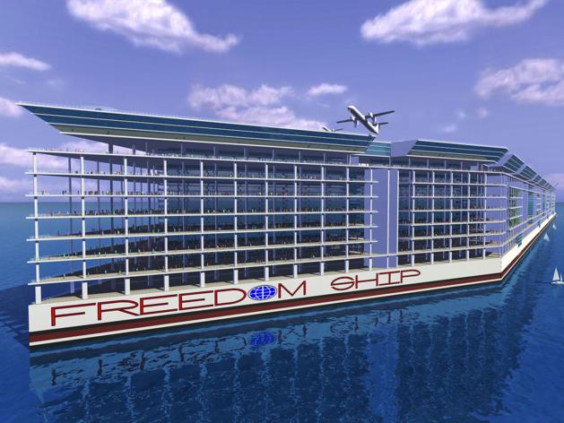États-Unis : « Freedom Ship », le serpent de mer refait surface