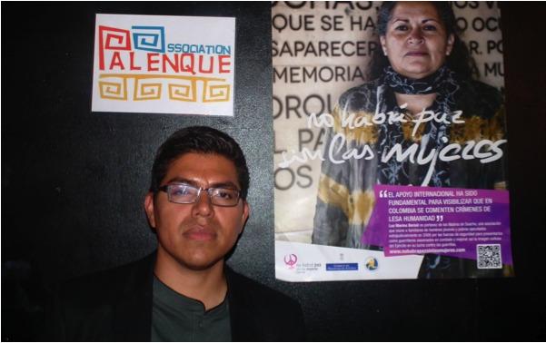Alvaro Duran, avocat des droits de l'homme et porte parole du comité de soutien des prisonniers politiques et des communautés indigènes. Crédit Simon Morvan