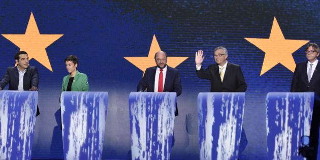 Les principaux candidats à la Présidence de la Commission européenne. Crédit : Huffington Post