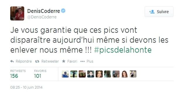 Tweet de Denis Coderre