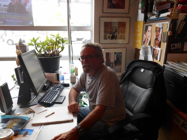 Pierre Tougas, agent d'accueil et de formation à L'Itinéraire. Crédit : Laurine Benjebria, juin 2014