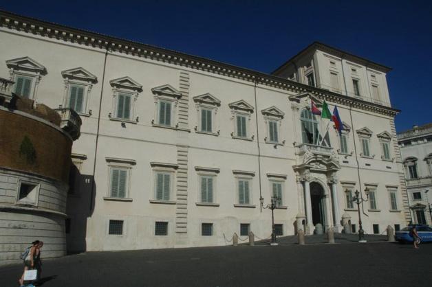 Le palais du Quirinal, sur la colline éponyme de Rome, résidence du président de la République italienne - Crédit André Forissier